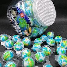 [YouTube ASMR GUMMI] 1box(60個) 地球グミ 宇宙ボール ASMR お菓子 韓国グミ 1box(60個)  可愛いDIYシール1枚を付け!