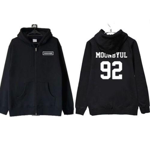 ALLKPOPER Kpop MAMAMOO Moon Byul Unisex Cap Sweater HELLO 1st Mini Album Hoodie MOONBYUL Zipper Jump