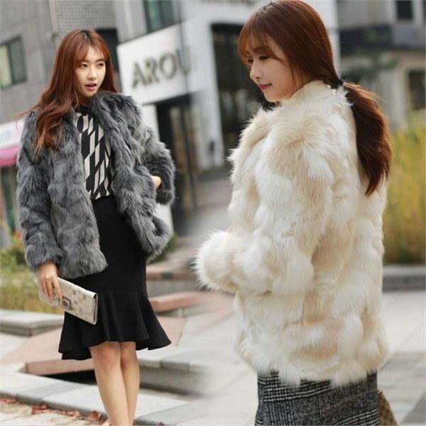 ミッシェル・ファージャケットHJK002 女性のジャケット / 韓国ファッション/ジャケット/秋冬/レディース/ハーフ/ロング/