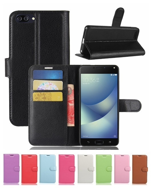 ZenFone 4 Max ZC520KL用レザーケース/カード収納付き/手帳型/ポケット付き/財布型保護カバー/マグネット横開き/スタンドカバー2つ折り/落下防止【管理番号:G885】
