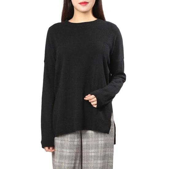 ボブ衣類ラウンドルーズフィットニート7157450101 ロングニット/ルーズフィット/セーター/韓国ファッション
