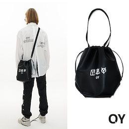 韓国ブランド☆OY☆TRIPLE LOGO LEATHER BUCKET BAG