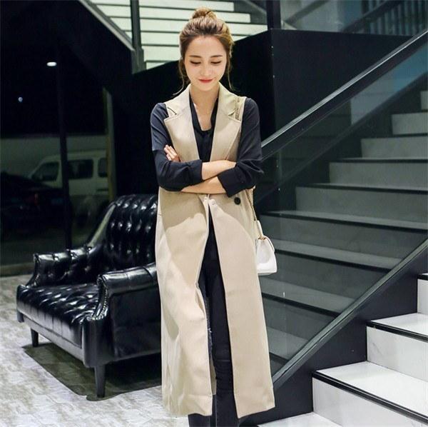 ジレベスト レディース 通勤 無地 超ロング丈スーツベスト マッチングしやすい ベストコート ハイセンス 魅力溢れ 欧米風 秋ファッション