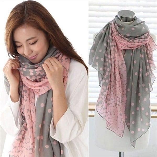 新しいファッションレディース女性のロングキャンディー色のスカーフは、ショールストラップソフトスカーフをラップします。