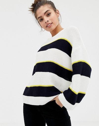 ブレーブソウル レディース ニット・セーター アウター Brave Soul valley stripe sweater