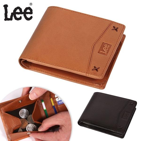 Lee リー 通販/正規品 おすすめ wallet 定番 小銭入れ シンプル 二つ折り 本革 メンズ サイフ さいふ 財布 ウォレット