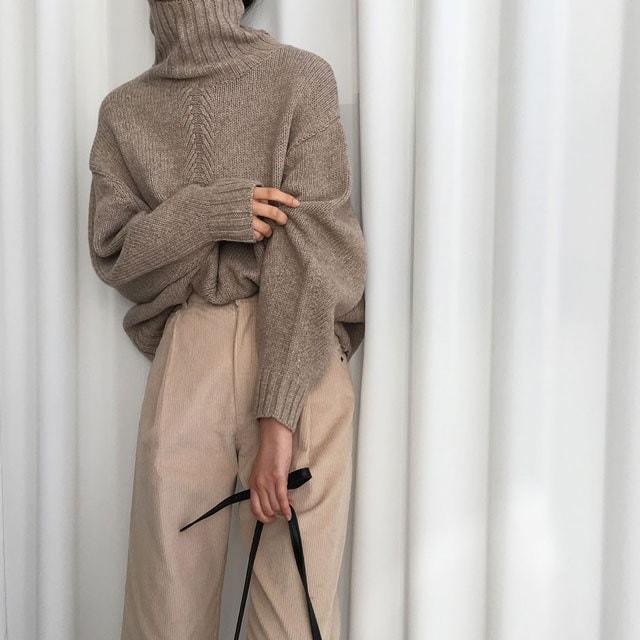 [ラルム】トムポーラニット3col korea fashion style