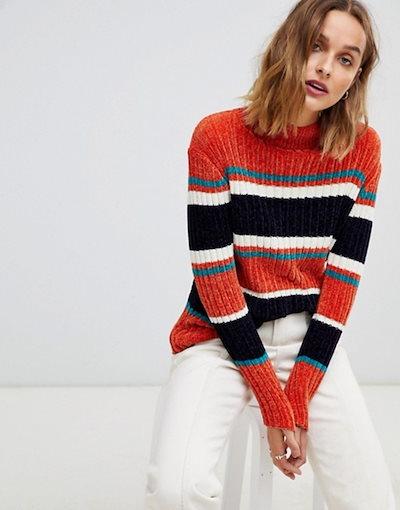 ムーンリバー レディース ニット・セーター アウター Moon River stripe knit sweater