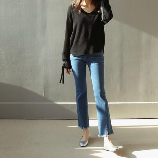 ビナインミロナリボン・ニット ニット/セーター/ニット/韓国ファッション