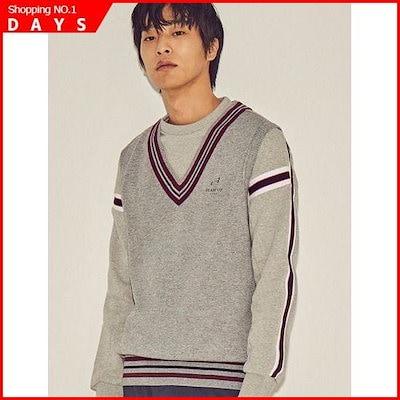 [ソン・アリ、ビーンポールスポーツ]グレー男性セーターベスト(BO8X41D223) /ベスト/チョッキ/韓国ファッション