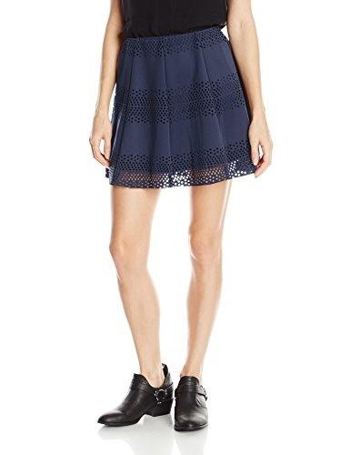 Jolt Juniors Laser Scuba Skater Skirt, Blue, Large