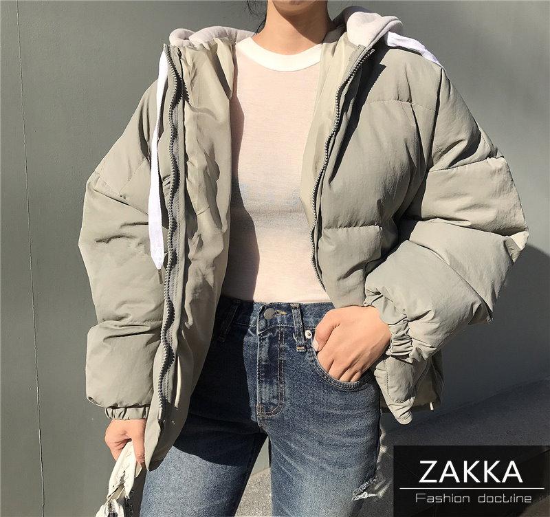 【送料無料】人気 新型 ★★ZAKKA★★ 韓国ファッション レディース服/ダウンコート/ショートコート/ダウンジャケット/コットン/ジャケット