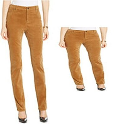 Charter Club Classic Fit Tummy Slimming Womens Pants Brown 14