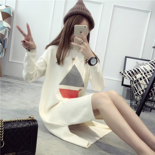New Arrival Casual Slim Sweater Knitwear Pullovers Long Sleeve Diamond Pattern Fashion Sweater Knitw