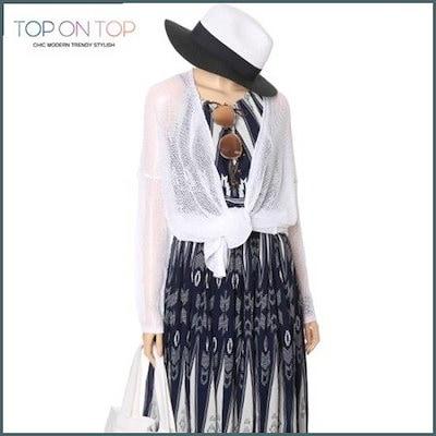 [タプオンタプ][ハーフクラブ/TOP ON TOP]シンプル・ニットショールカディゴン(TP161709) /女性ニット/カーディガン/韓国ファッション