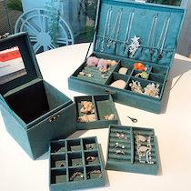 【即納】😊SSH💕雑誌に掲載された人気収納💕ボックス ケース 収納 大容量小物 指輪ネックレス ピアス レディース プレゼント可愛いジュエ 宝石箱