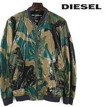 ディーゼル DIESEL ミリタリージャケット メンズ 光沢 カモフラージュ柄 迷彩柄 MA-1 ブルゾン J-FIPS die-m-o-80-291