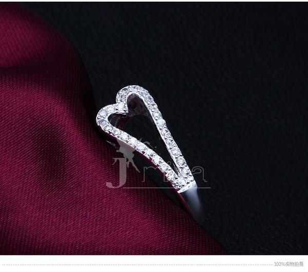 レディースファッションジュエリー、925スターリングシルバーリング(サイズ:8)