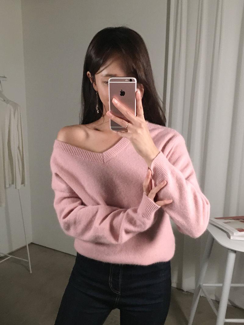 リブデートルックヨリピットニットkorea fashion style