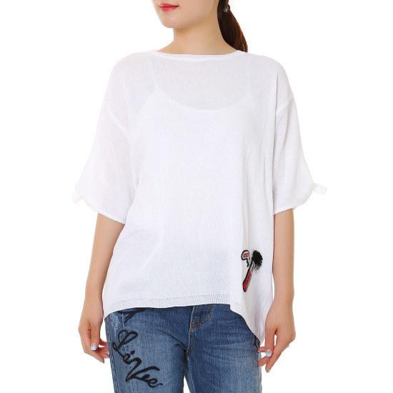 ボブ衣類小売リボンプルオーバーニート7156350101 ニット/セーター/韓国ファッション