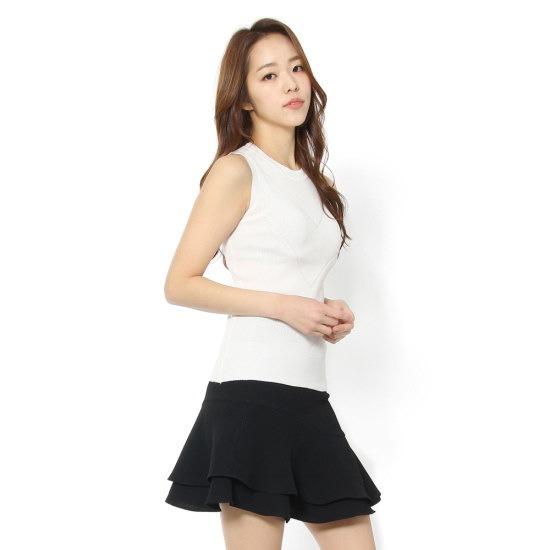 ルシャプLeShopの前中心Vディテール、袖なしのニートLH4KP810 ニット/セーター/韓国ファッション