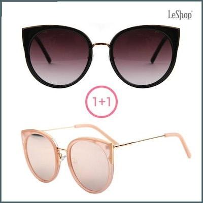 [ルシャプ][1+1]デパート、オリジナルLS5003-ブラック+ピンクピンク・ミラーサングラス /サングラス/メガネ/ファッション小物/