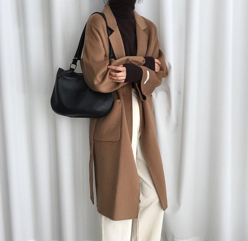 [ラルム】ジーンハンドメイドコート3col korea fashion style