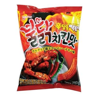 『ヘテ』辛ダンドントッポキブルダック 激辛スパイシーチキン味(70g・375kcal) 激辛 シンダンドン トッポギスナック 韓国お菓子 韓国食品