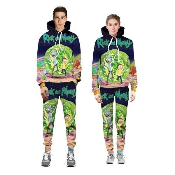 ファッションメンズ女性リックとモルティパーカーセーターセーターシャツジョガーズパンツスーツ