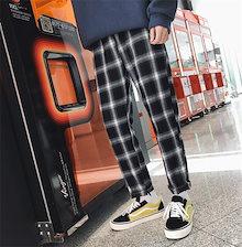 Fashions、2018新品  韓国ファッション メンズ   原宿  パンツ  格子縞