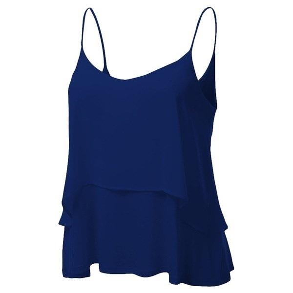 Summer Woman Shirt Sleeveless Spaghetti Strap Attractive Chiffon Women Blouses Ruffles Tops Plus Siz
