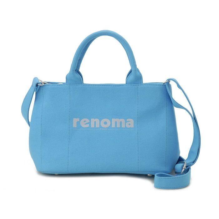 renoma レノマ ハンドバッグ 1505001-24401 キャンバス 2WAYバッグ ブルー【送料無料】