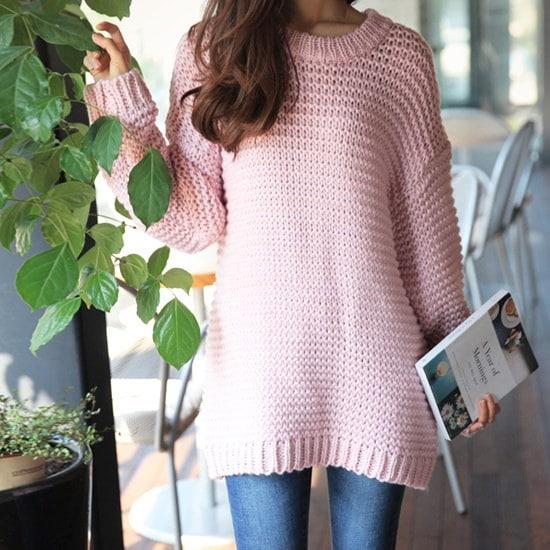 二十歳足すsmusalplusキャンデーR ニット/セーター/ニット/韓国ファッション