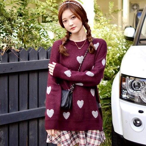 【Deepny]女性用ときめき実長袖カットソーkorean fashion style