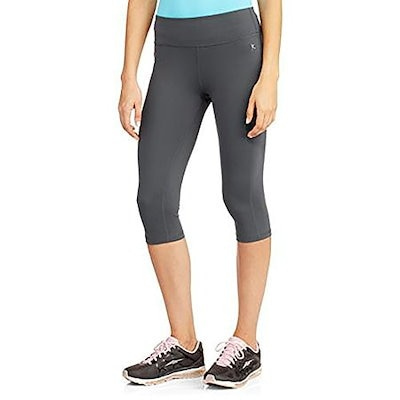 Danskin Womens Compression Capri Pants (Small, GREYSTONE)
