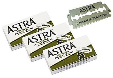 Astra Superiorプレミアムプラチナダブルエッジセーフティカミソリブレード3パック5枚(3)