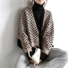ニットカーディガン レディース セーター韓国ファッション コート ゆったり厚手