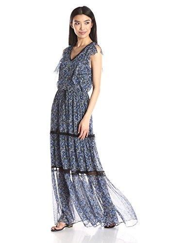 Elie Tahari Womens Sanna Dress, Stargazer, X-Small