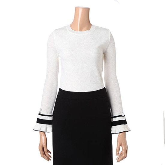 リアンニューヨークテュルイプ小売ラウンドニートRKKKPO950 ニット/セーター/韓国ファッション