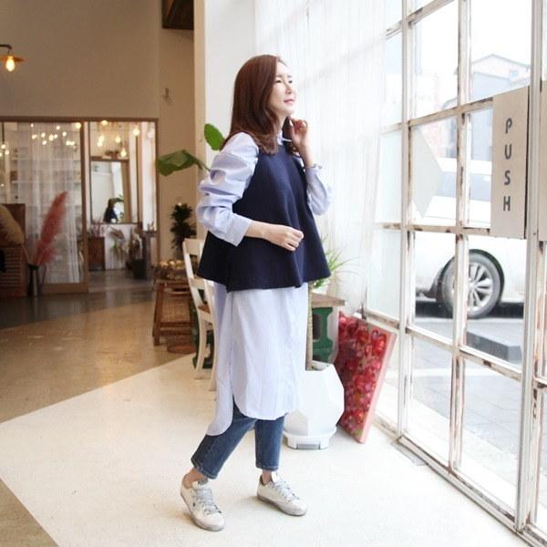 フレアウールベスト(2color)new 女性ニット/ニットベスト/韓国ファッション