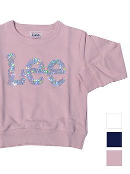 b22d640bd6599 LEE リー キッズ トレーナー 男の子 女の子 スウェット 無地 ブランド KIDS SPANGLE SWEAT SHIRTS スパンコール  スウェットシャツ