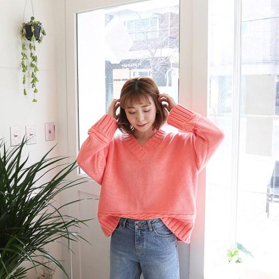 素であるスクリューニット ニット/セーター/ニット/韓国ファッション