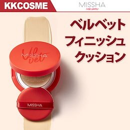 【MISSHA/ミシャ】新発売! ベルベットフィニッシュクッションSPA50+PA+++/さらさらクッションファンデ!しわケア/ブライトニング/紫外線カット!【安心・韓国コスメ】