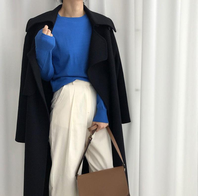 [ラルム】フロッピーラウンドニット3col korea fashion style