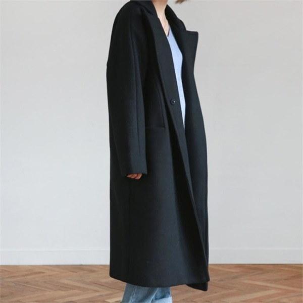 デイリー・マンデーSnap button boxy fit coatコート 女性のコート/ 韓国ファッション/ジャケット/秋冬/レディース/ハーフ/ロング/