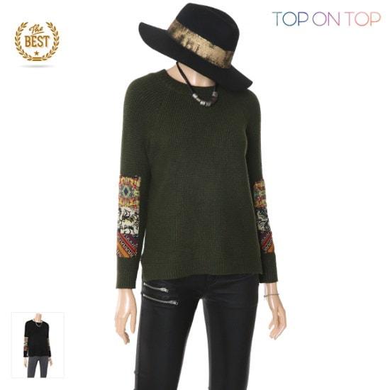 タプオンタプタプオンタプエトロパッチニートTP1738013 ニット/セーター/ニット/韓国ファッション