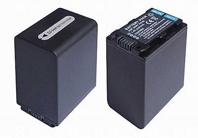【2個セット・残量表示付】ソニーNP-FH100互換バッテリーの2個セットSonyDCR-DVD308DCR-DVD508等対応等対応