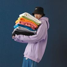 韓国ファッション パーカー スウェット早秋特偭 長袖 レディース パーカー プル ジャケット男女兼用