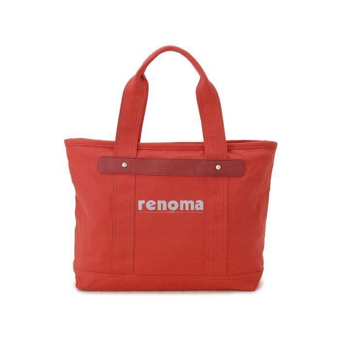 renoma レノマ トートバッグ 1505006-13512 キャンバス 1WAYバッグ レッド【送料無料】