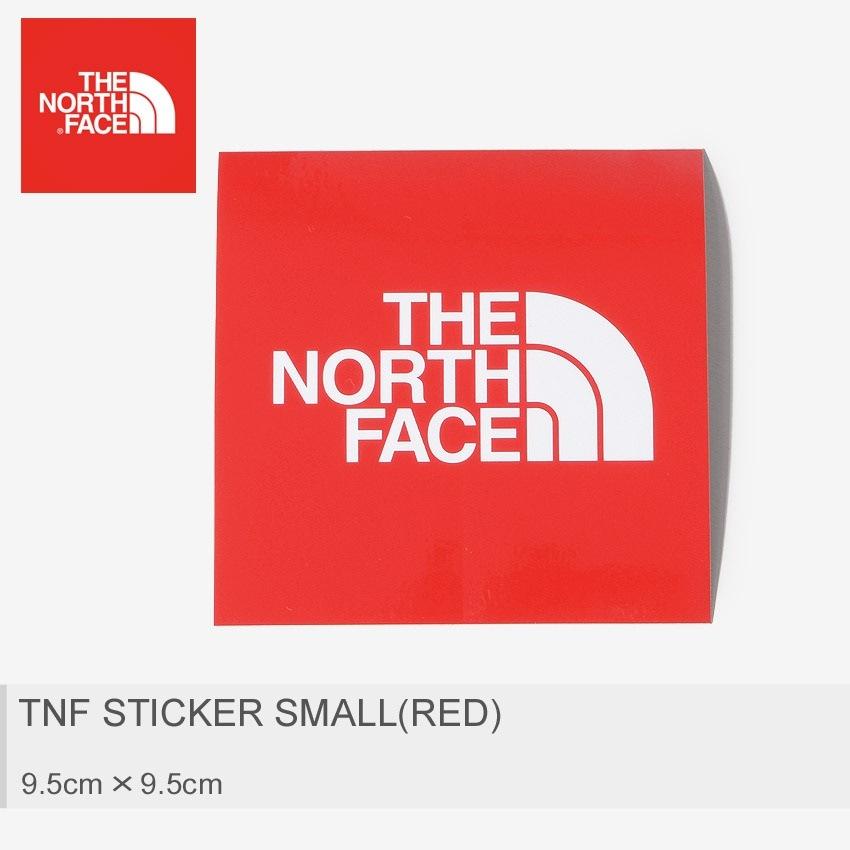 THE NORTH FACE ザ ノースフェイス ステッカー TNF ステッカー 小 レッド NN9719